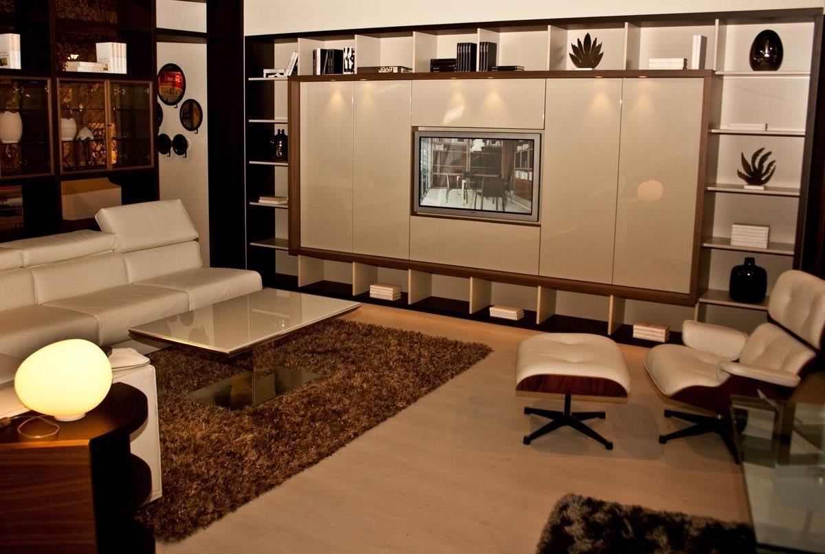 Parete soggiorno porta tv produzione artigianale for Mobile divisorio soggiorno